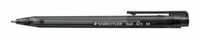 "Golyóstoll, 0,5 mm, nyomógombos, STAEDTLER ""Ball 423 M"", fekete"